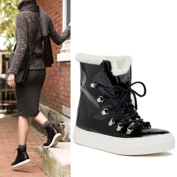 66b83bdb4d Jeffrey Campbell Shoes - JEFFREY CAMPBELL Cimone Fleece Lined Patent Boot